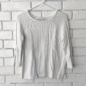Christopher and banks quarter sleeve sweater